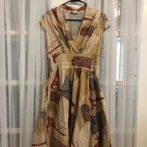 ModCloth Retrolicious Eiffel Tower dress
